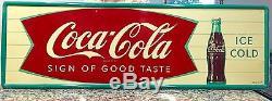 Coca Cola Fishtail Sign Coke