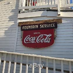 Coca Cola Fountain Service Sign DSP