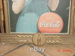 Coca Cola He's Home Kay Display Wooden Frame Sign Cardboard Insert