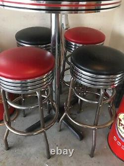 Coca Cola ICE COLD Soda Pop High Table Malt Shop 1950s Retro Diner Table