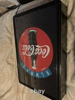 Coca Cola Light Up Sign 1990 Vintage Fibre Optic