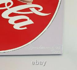 Coca Cola Mel Ramos The pause that refreshes 2001 Enamel on Steel signed Nr. 162