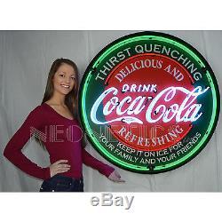 Coca Cola Neon sign 36 3 feet in solid steel metal can Coke Evergreen Huge