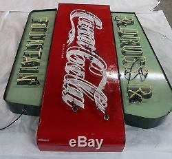 Coca Cola Porcelain Neon sign 67 Rx Drugs and Fountain