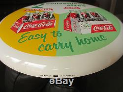 Coca-Cola Rare Button Sign 16 Mint Porcelain 6pack Standard and KING SIZE