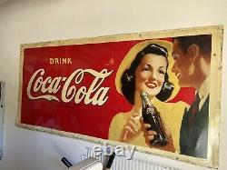 Coca Cola Sign 1942 70 X 33