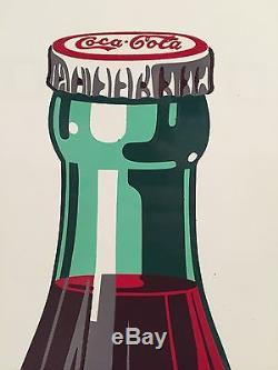 Coca Cola Sign 1949 Pilaster NOS