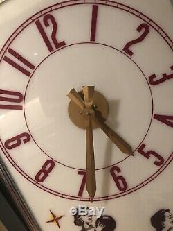 Coca Cola Sign Original Clock Light Bowling Display 1950s Vintage Drink Diner