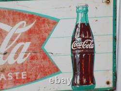 Coca Cola Sign of Good Taste Fishtail Sign