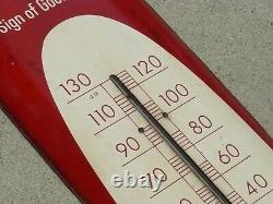 Coca Cola Soda Advertising Thermometer Sign