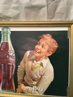 Coca Cola Soda Pop Advertising paper window sign