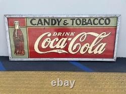 Coca Cola Super Rare 1935 Candy/ Tobacco Large Store Sign