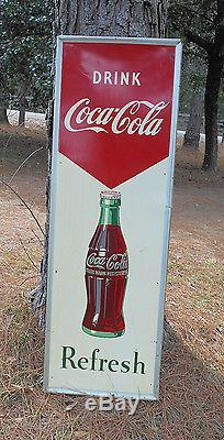 Coca-Cola Vintage Metal Sign 18 x 54