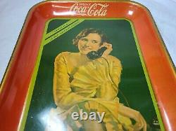 Coca-Cola Vintage Tray 1930 Meet me at the soda fountain advertising collectable