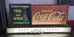 Coca Cola Waterfall Light Up 100% Original Sign Not Porcelain Runs Water