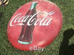 Coca Cola button sign Coke 36 Original Vintage