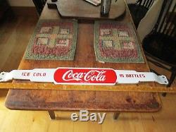 Coca-Cola porcelain door push pushbar sign Coke