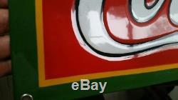 Coca Cola porcelain sign Read the description