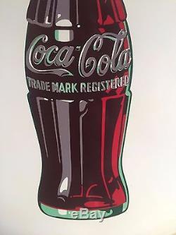 Coca Cola vintage 24 button sign Coke tin sign
