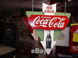 Coca-cola 1940s 1950s 1960s Bottle Style Nostalgic 3-d Advertising Sign