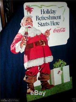 Coca-cola Coke 1970 Christmas Santa (3 Ft 9) Standee