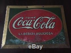 Coca cola tome tin sign
