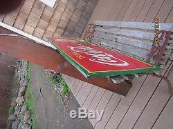 Coca cola vintage 1940s Drink coke sign