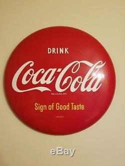 Coke, Coca cola button sign 16 inch