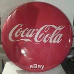 Coke button porcelain sign 1950s
