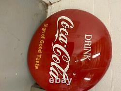 Coke button sign 48