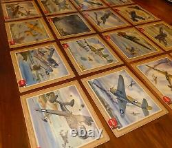 Complete set of 20 1940's Coca-Cola WW2 cardboard airplane signs