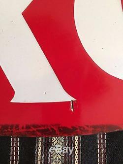 (DG) Derby's Flexgas Ethyl logo double sided 30 Round Porcelain Sign Vintage