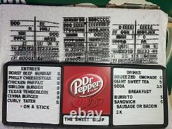 Dr. Pepper Menu Board Sign with Letters & Numbers Diner Game Room Man Cave 2010