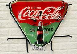 Drink Coca Cola Ice Cold Neon Light Sign 24X20 Beer Lamp Bar Decor Windows