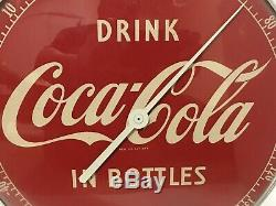 Drink Coca Cola In Bottles Round Advertising Thermometer Sign Works