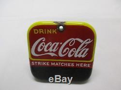 Drink Coca Cola Porcelain Match Striker