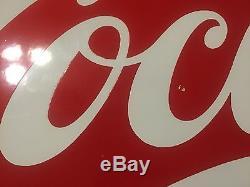 Drink Coca-Cola Porcelain Sled Sign