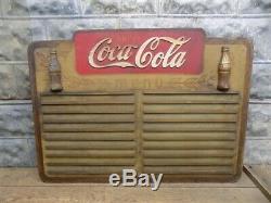 Drink Coca Cola Wooden Menu Board, Vintage Advertising Sign, Diner Decor