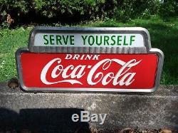 Drink Coca-cola, Serve Yourself Vintage Light Up Display Works