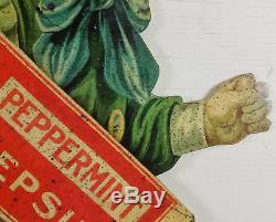 Dutch Boy Running Coca Cola Pepsin Peppermint Gum Heavy Metal Store Adv Sign
