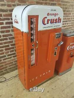 Embossed orange crush soda machine coca cola vendo coke Pepsi sign 7up cooler
