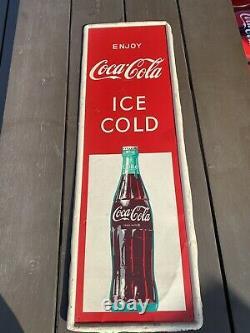 Enjoy Coca Cola Ice Cold Vertical Sign (53.5 x 17.5)