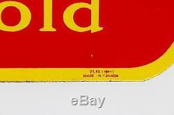 Exceptional Rare Original 1941 Canadian Porcelain Coca-Cola Door Kick-Plate Sign