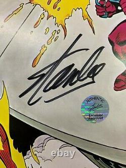 FANTASTIC FOUR Marvel origin Byrne, Sinnot Coca-Cola poster signed by STAN LEE