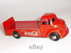 FANTASTIC NEAR MINT 1950's COCA-COLA DELIVERY TOY TRUCK LONDONTOY CANADA SIGN