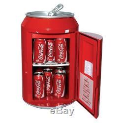 Free Standing Coca Cola Beverage Sliding Shelf Can Personal Keg Cooler Fridge