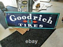 Goodrich Tires Porcelain Sign 60 X 20 Original Heavy Porcelain Sign Bf Goodrich