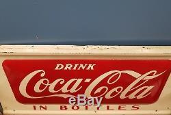 HTF Vintage 1950s Large 50 Drink Coca-Cola in Bottles Soda Pop Sign Advertising