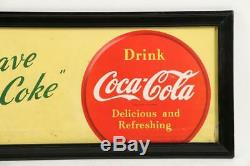 Hard to find WW2 Coca-Cola Trolley Sign or Bus Card