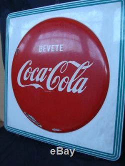 Insegna Coca Cola vintage old sign italy bevete coca cola